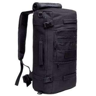 50L Desert Storm Black/ Khaki Travel Backpack Haversack