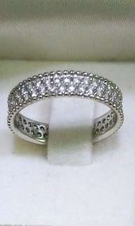 18K Silver Plated Eternity Ring