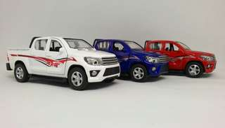 Toyota Hilux Vigo Diecast Scale Model Toy Cars