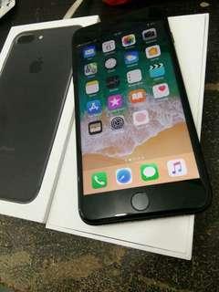 Iphone 7 Plus 128gb Ex international Blackmatte mulus apik full ori
