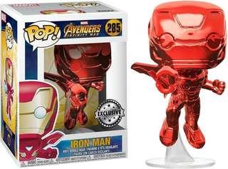 Pre Order Funko Pop Iron Man Red Chrome