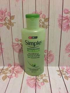 #maudecay Simple sensitive skin soothing facial toner