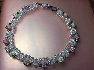 Pearl Beaded Collar Necklace