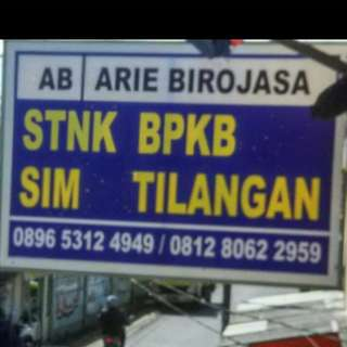 AB  l Arie Birojasa = STNK SIM BPKB TILANGAN