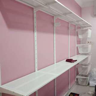 IKEA ALGOT based open wardrobe design and build service