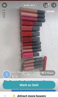 Bite Beauty lip products *never used