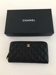 Chanel caviar long wallet 茘枝皮長銀包