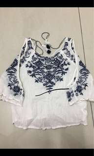 H&M Embroidery Blouse