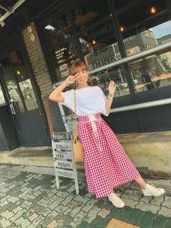 🚚 全新正韓平口綁帶格子洋裝