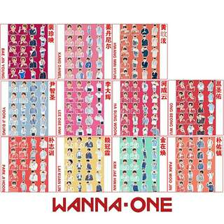 Wanna One member stickers