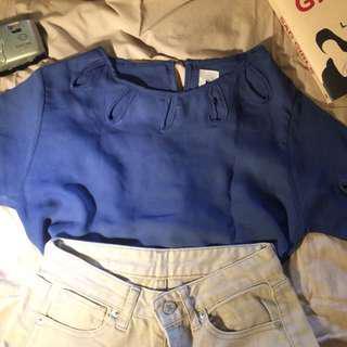 blouse blue