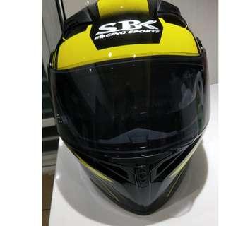 【SBK】SV 可掀式安全帽 PRIDE彩繪 (光黑/黃)