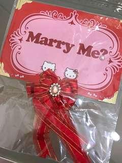 Hello Kitty 求婚牌