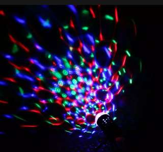 Crystal Auto Rotating Laser RGB LED Stage Night Light Party DJ Disco