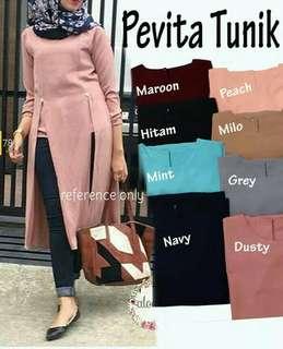 Baju Atasan Wanita Pevita Tunik Baju Muslim Blus Muslim Pevita