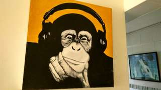 Replica of famous Steez Headphone Chimp Painting