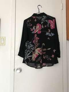 Floral back blouse