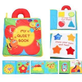 My Quiet book - baby activities cloth book