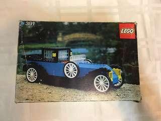 75年樂高第一代名車可拼砌系列 LEGO 391 -1926 Renault  罕有七十年代有盒,有書,齊件,十分難得,甚具收藏價值👍 這類樂高全球也難找👍,絶非香港週街也能買到的現代LEGO能夠相比💪