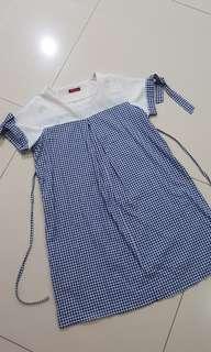 Checker Nursing Dress /Baju hamil