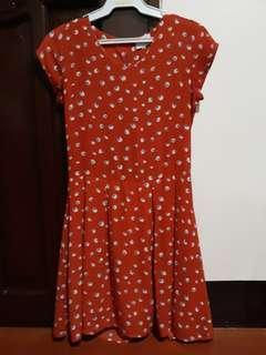 Orange Flora Dress
