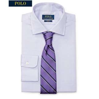 BNWT Ralph Lauren Slim Fit Cotton Dobby Dress Shirt Formal