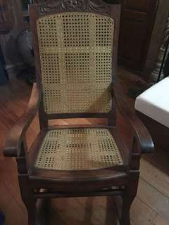 Rocking Chair with Rattan