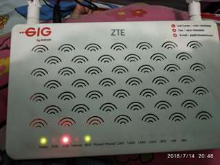 wifi router Zte 2 antena