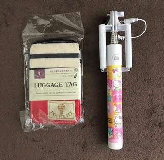 Sanrio 自拍神器 + 行李牌