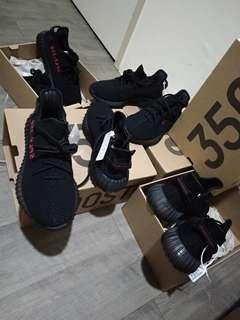 🚚 Adidas Yeezy Boost 350V2 黑底紅字