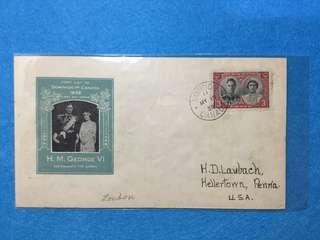 1939 Canada. Royal Visit To Canada Souvenir Cover