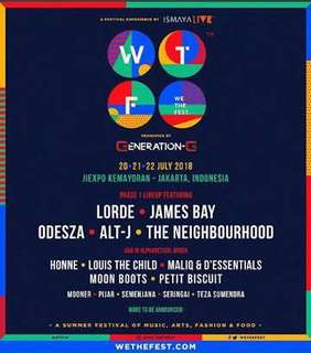 2 Tiket Early Entry WTF 2018 DAY 2