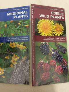 Folding pocket guide (medicinal plants and edible wild plants)