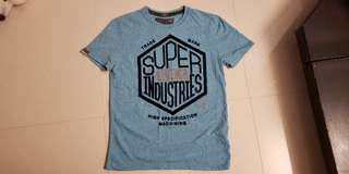 superdry tee in blue with 3M reflective