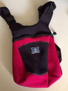 BN Vintage Skipper children backpack black red color