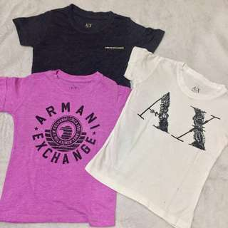 Take all Armani Exchange tees