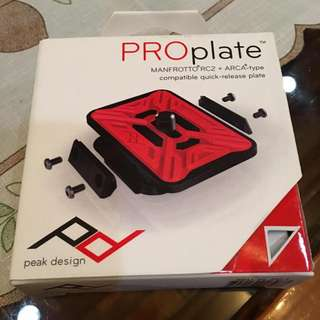 Peak Design PRO Plate  - brand new -