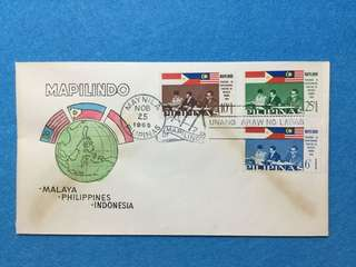 1965 Philippines Mapilindo FDC Featuring Sukarno, Marcos & Our PM Tunku Abdul Rahman