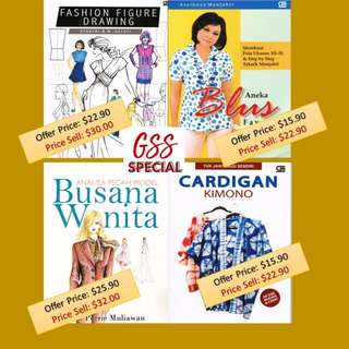FASHION SEWING BOOKS (Malay & English version)