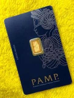 PAMP - (1 gram gold bar) 999 Gold ✅