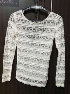 H&M - White Lace Longsleeves