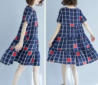 82035 #新款寬鬆娃娃衫連衣裙  颜色: 圖色1 圖色2 圖色3   尺码: 均码