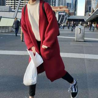 Wine / Red Cardigan