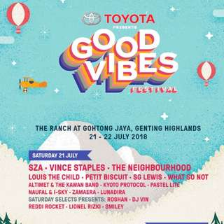GoodVibes 2018 2-Day Ticket Phase 1