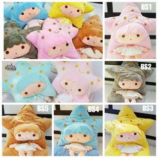 Blanket with doll, selimut dan doll