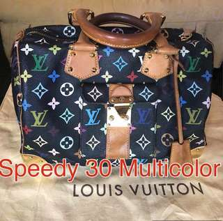 Authentic LV Speedy 30 Multicolor