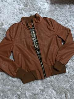 Brown PU jacket