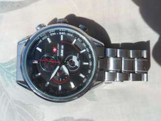Jam tangan swiss army stainless steal