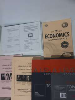 A level H2 physics tys worksheets and h1 economics tys bundle