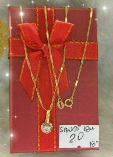 Saudi Gold Necklace 18 inches